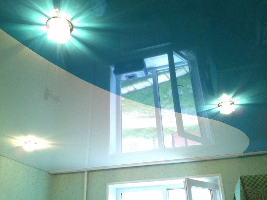 Натяжной потолок спайка цветов фото